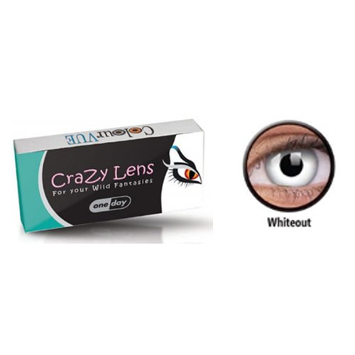 01753201d5 Φακοί Επαφής Crazy Lens One DayWhite Out - ArtOptical - Γυαλιά Ηλίου ...
